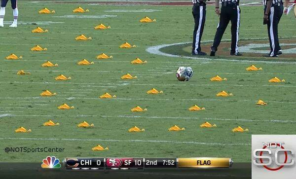 bears-49ers-penalty-flags